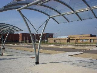 The Park and Cycle Facility with the Computer Laboratory in the background