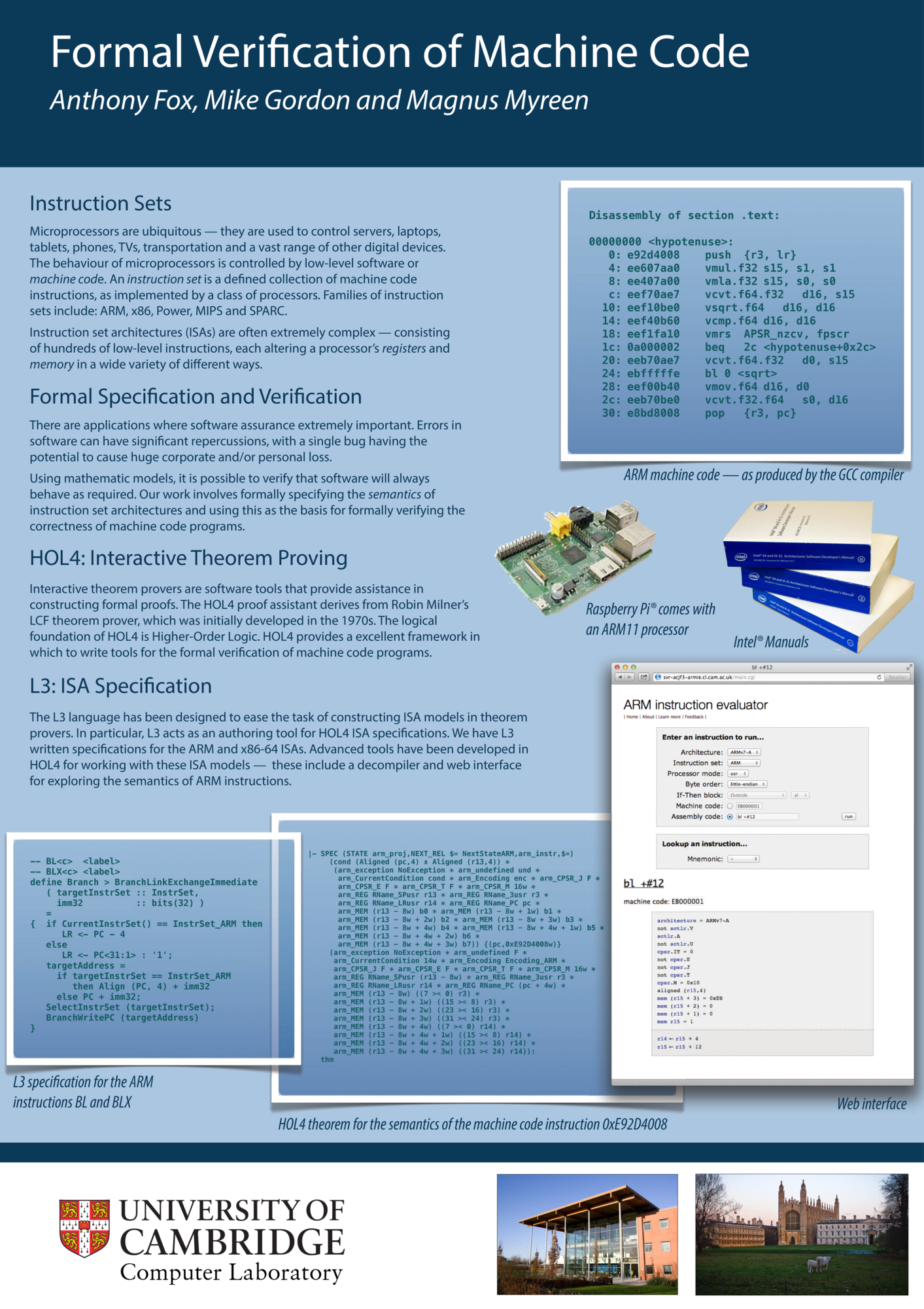 Computer Laboratory 75th Anniversary Poster Trojan F32 Wiring Diagram Formal Verification Of Machine Code