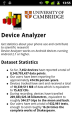 Analytics for Device Analyzer
