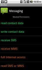 Fake permissions screenshot