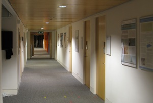 Part of the DTG offices corridor