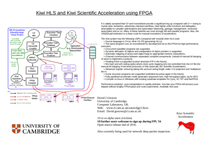 Kiwi Scientific Acceleration using FPGA