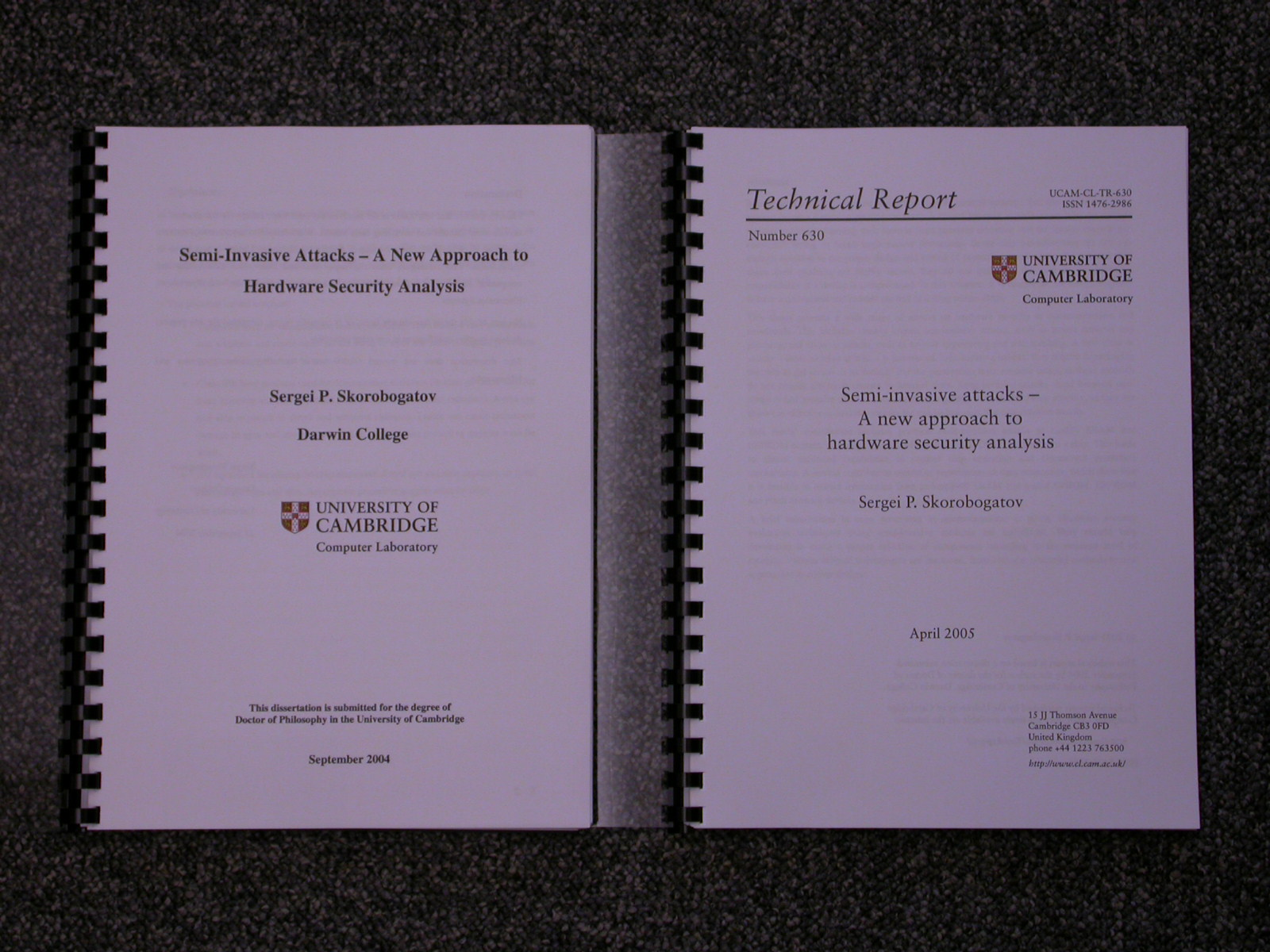 Phd dissertation report