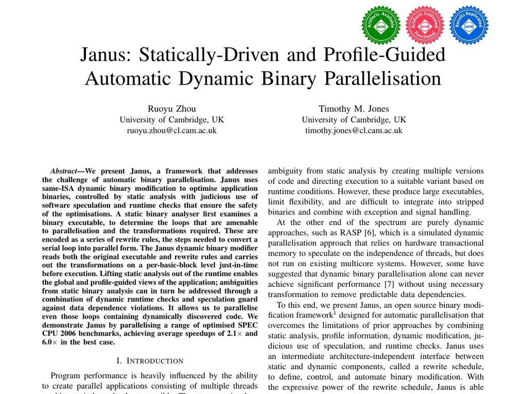 Computer Laboratory: Timothy M  Jones: Publications
